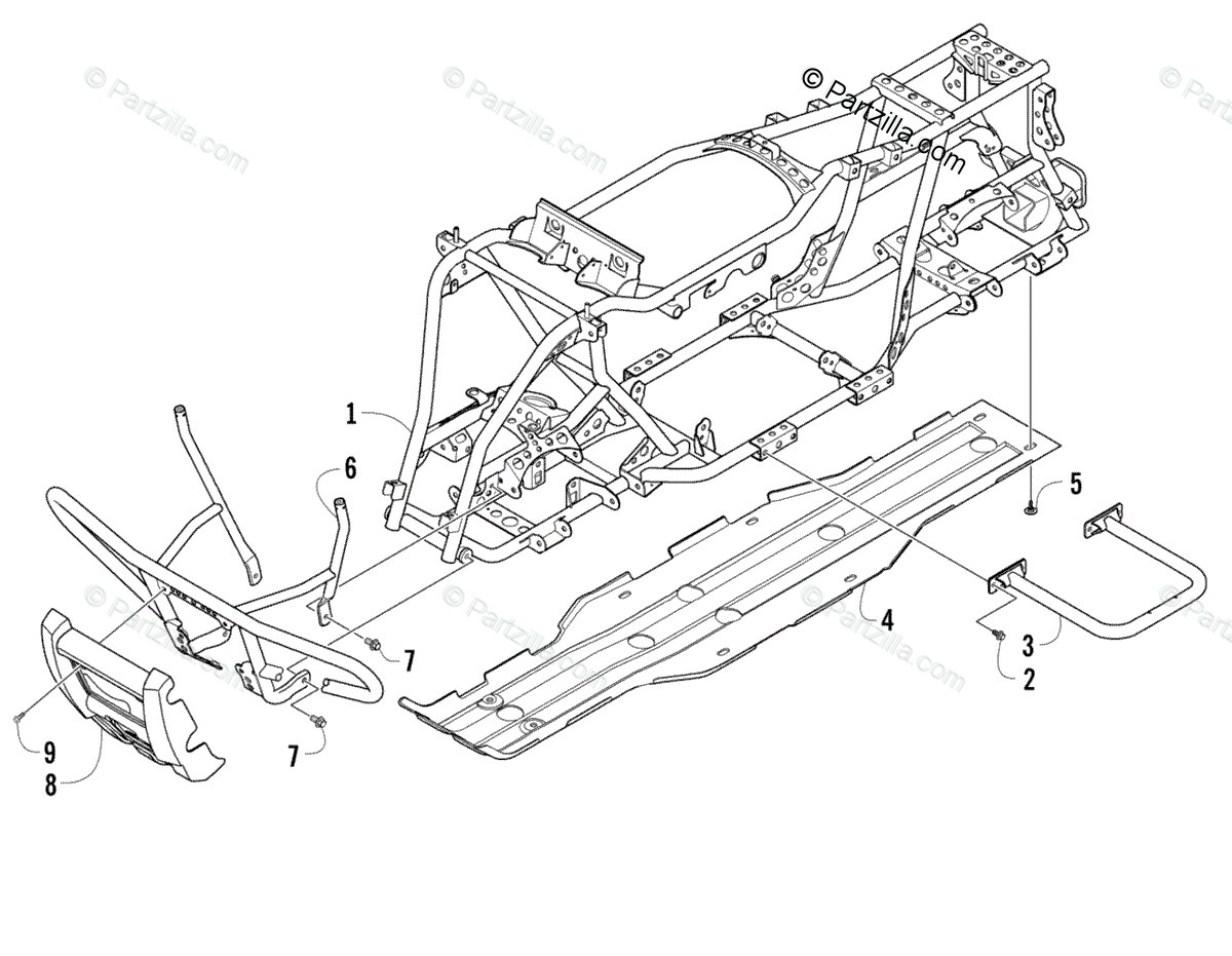 Arctic Cat ATV 2008 OEM Parts Diagram for Frame And