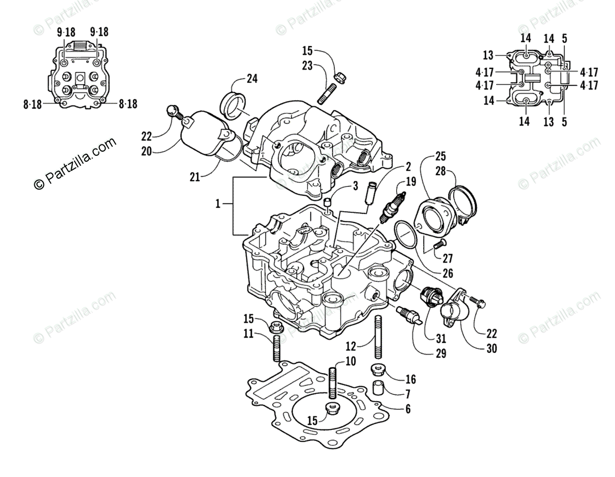 1999 Arctic Cat 500 4x4 Carburetor Diagram