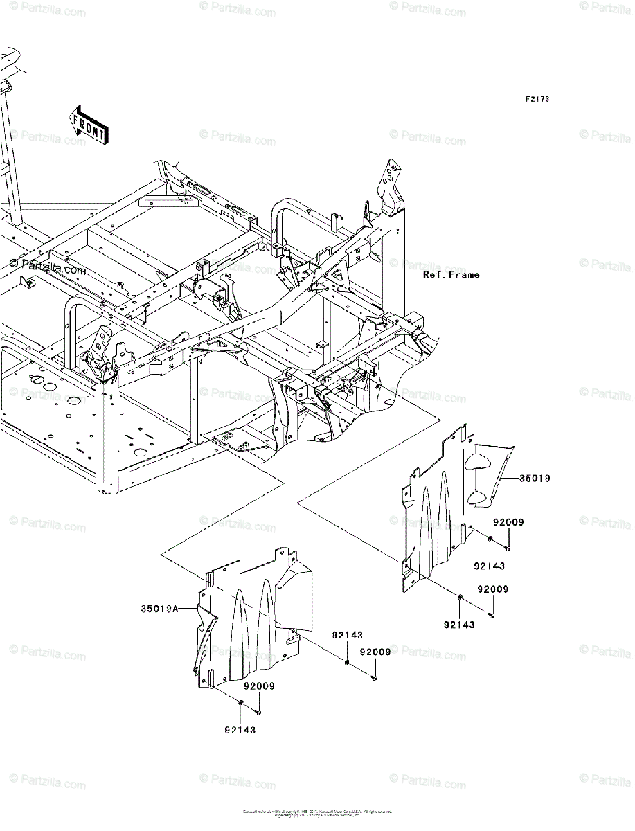 Kawasaki Side by Side 2008 OEM Parts Diagram for Flap