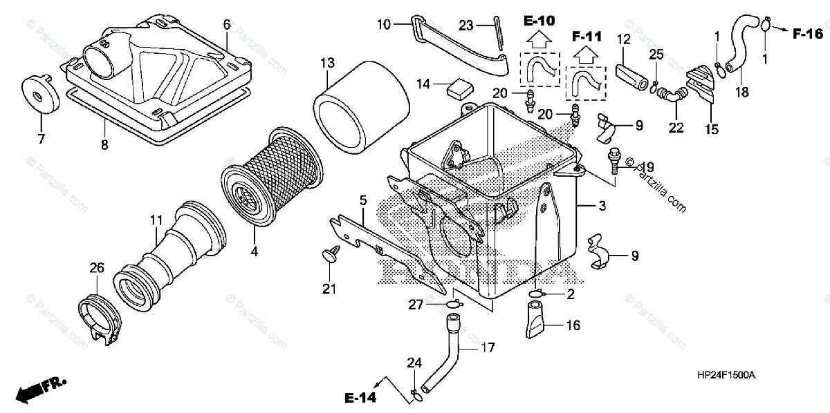Honda ATV 2013 OEM Parts Diagram for Air Cleaner