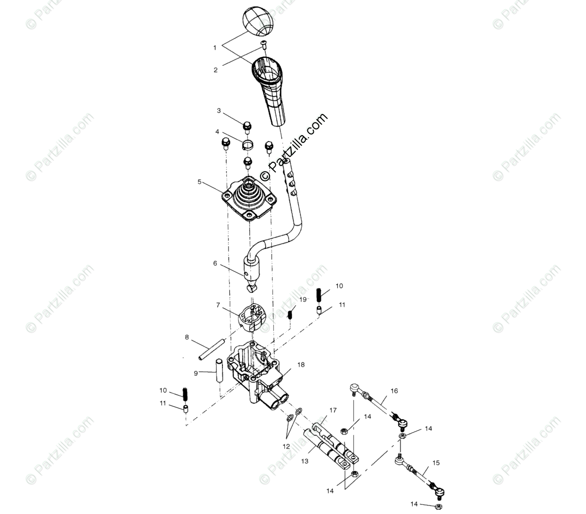 Polaris ATV 2003 OEM Parts Diagram for Gear Selector