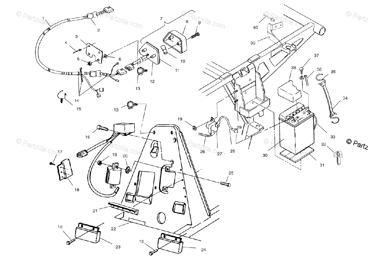 Polaris ATV 2001 OEM Parts Diagram for Electrical
