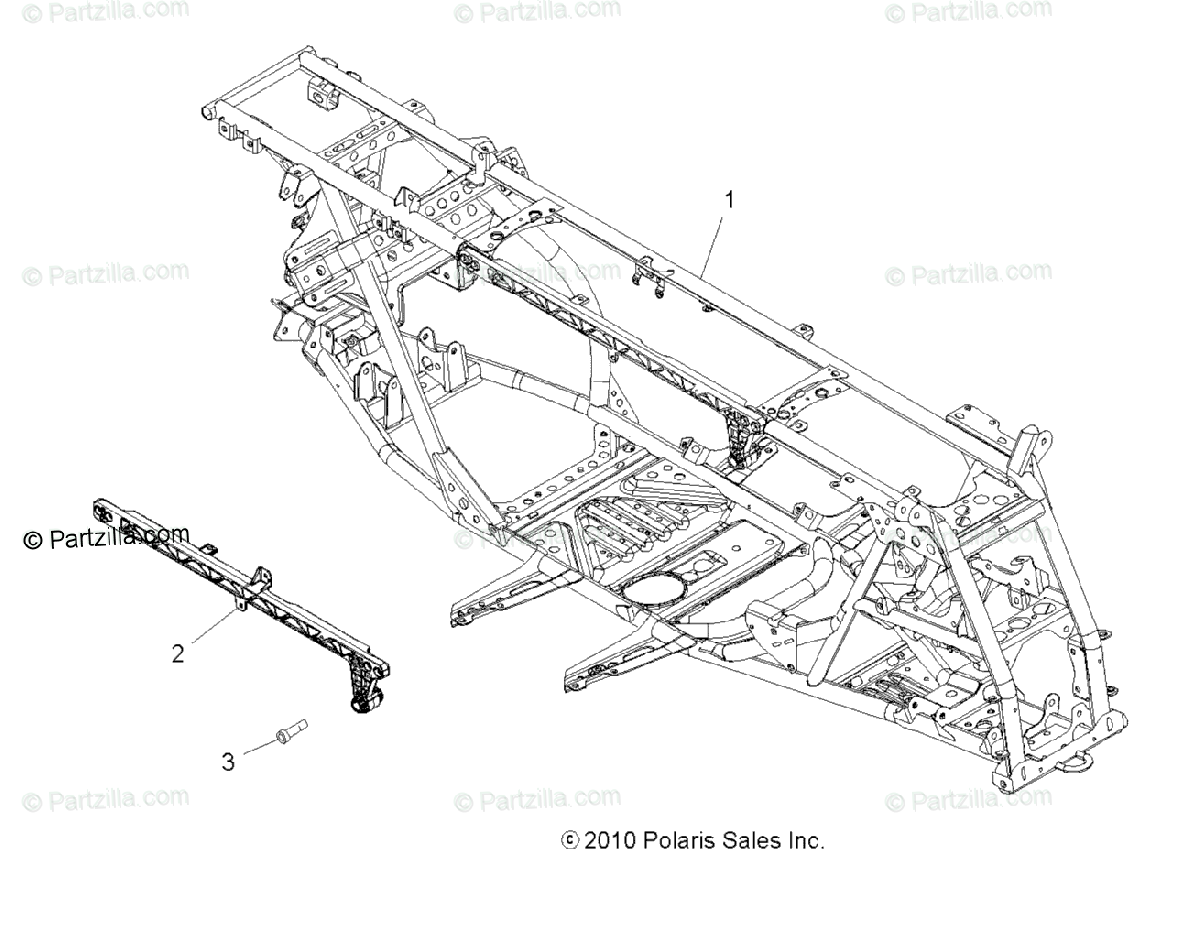 Polaris Atv Oem Parts Diagram For Chassis Amp Main
