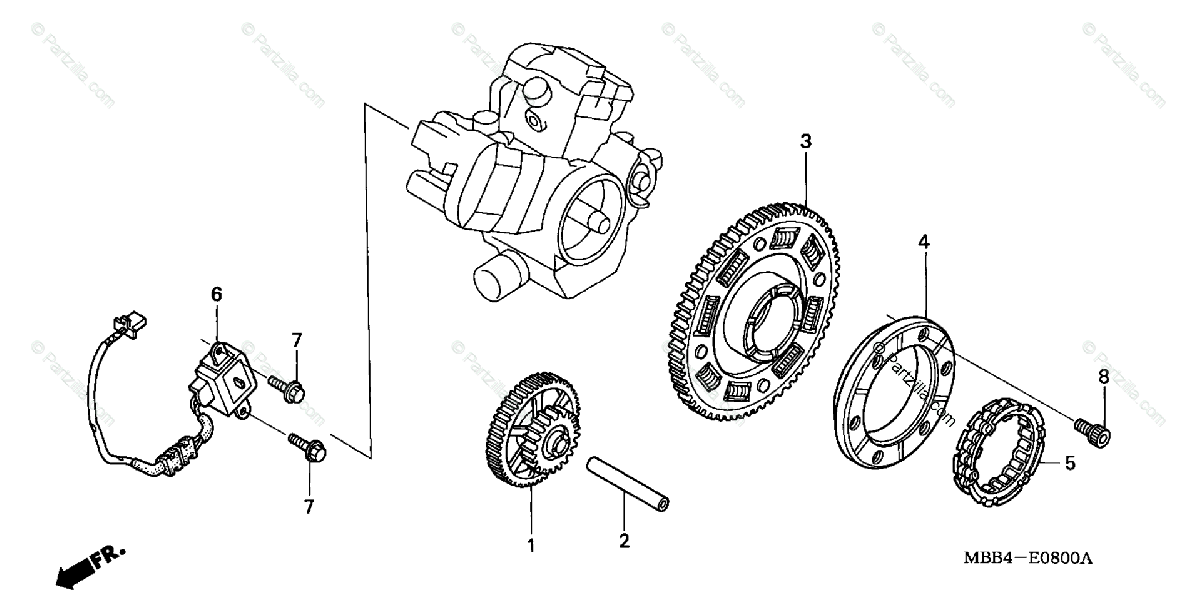 Honda Motorcycle 1999 OEM Parts Diagram for Pulse