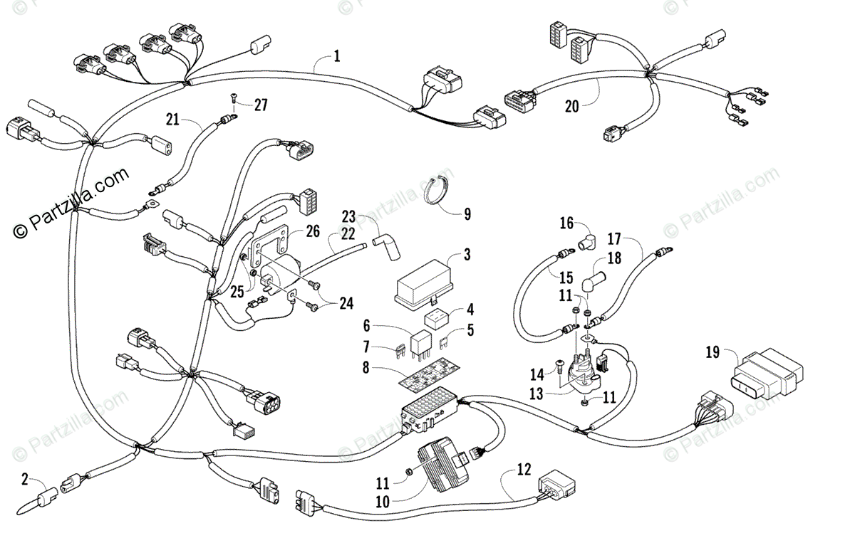 Arctic Cat Side by Side 2006 OEM Parts Diagram for Wiring
