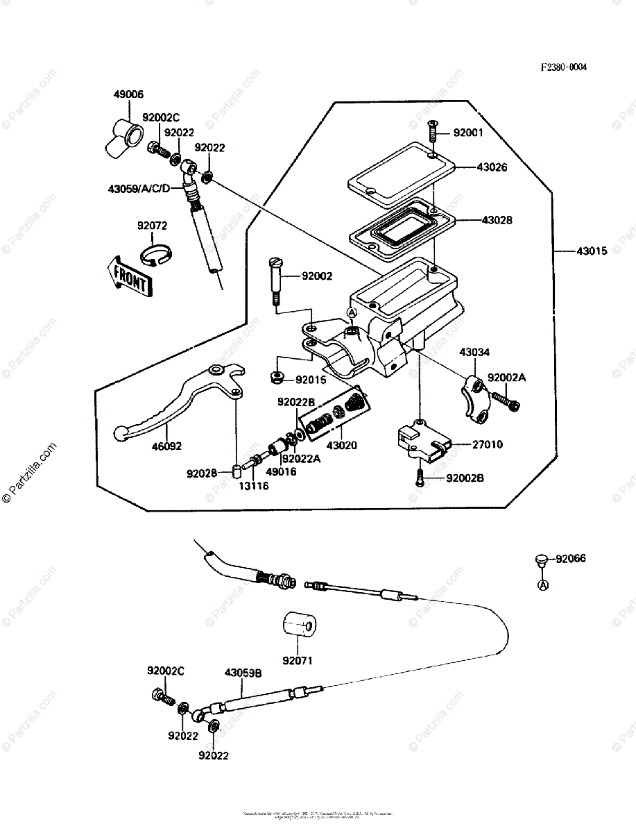 Kawasaki Motorcycle 1987 OEM Parts Diagram for Clutch