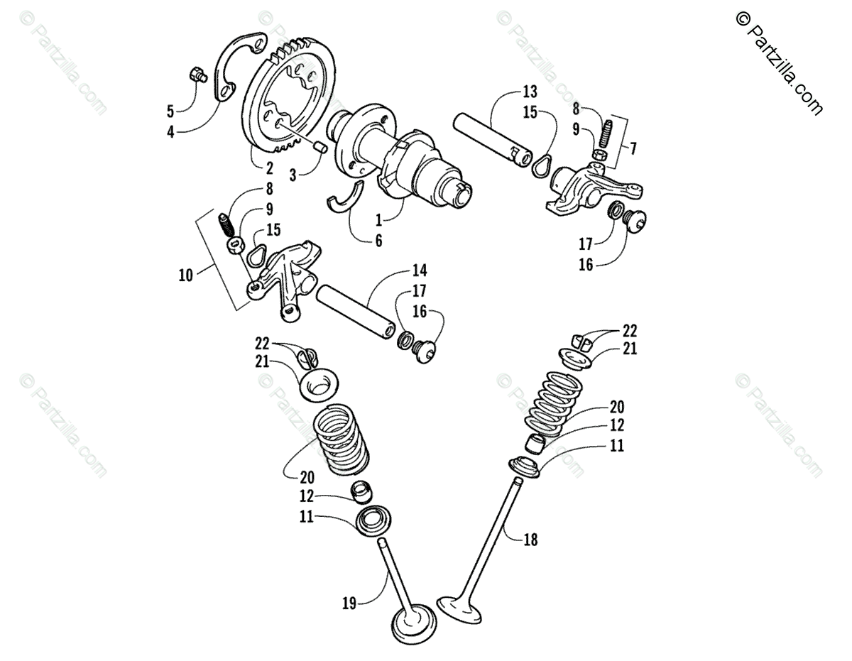 Arctic Cat ATV 2006 OEM Parts Diagram for Camshaft/Valve