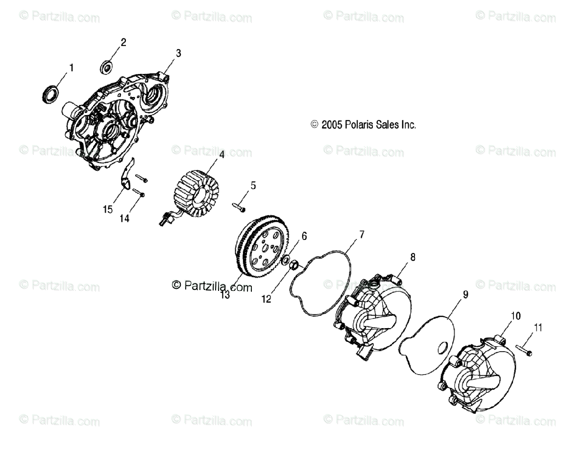 Polaris ATV 2007 OEM Parts Diagram for Engine, Magneto