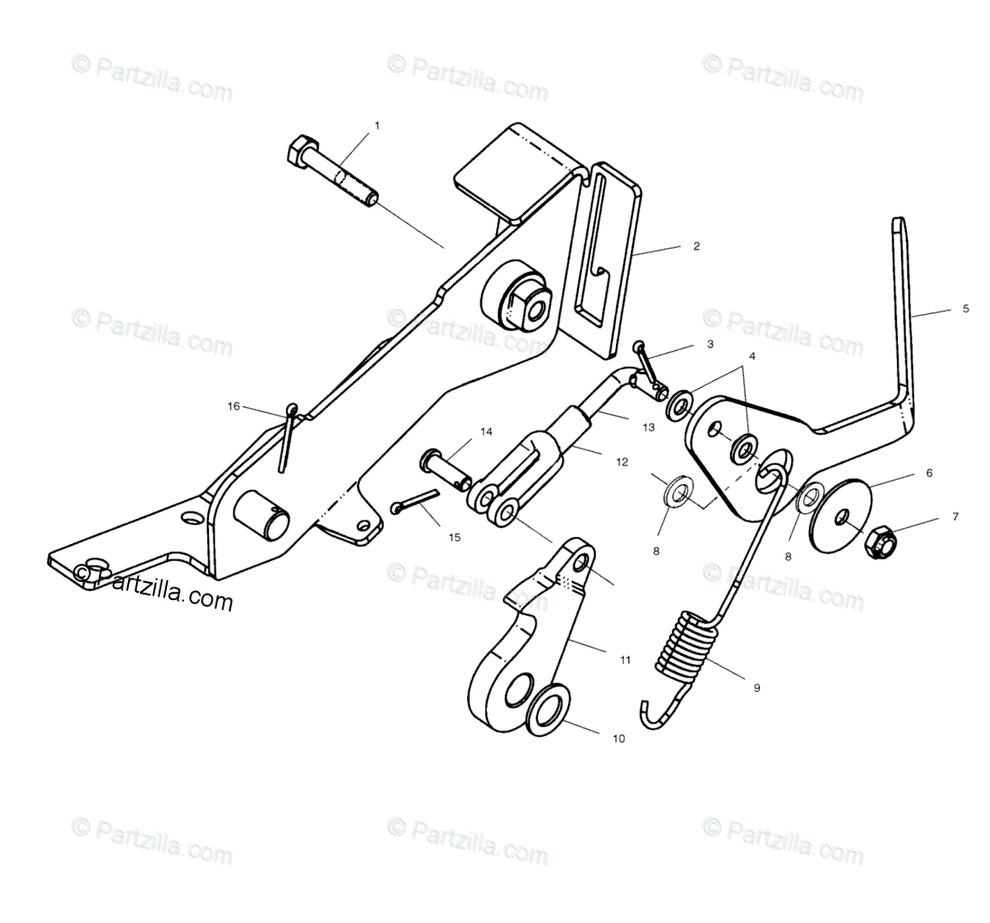 Polaris ATV 1999 OEM Parts Diagram for Foot Brake H50ea