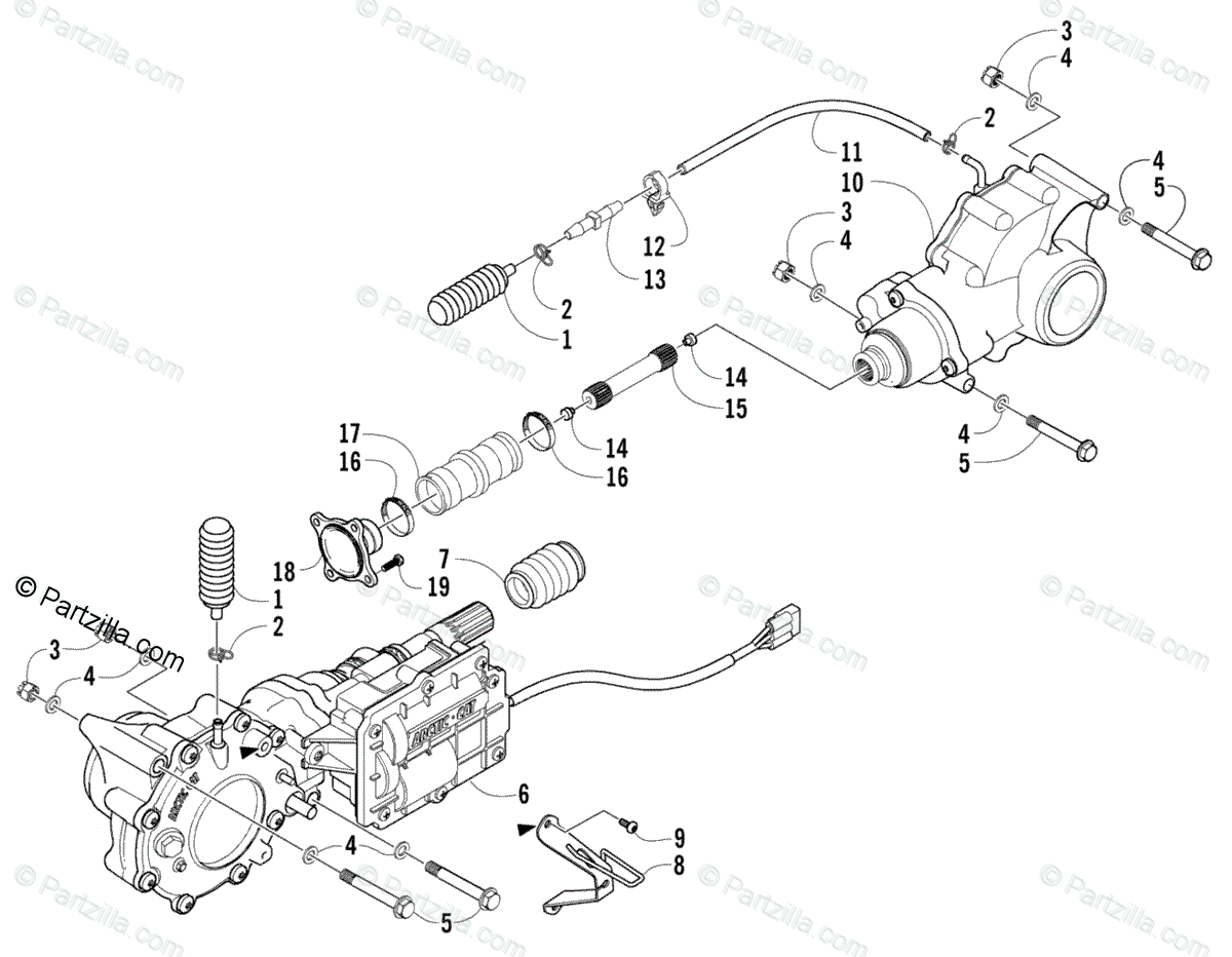 Arctic Cat ATV 2005 OEM Parts Diagram for Drive Train