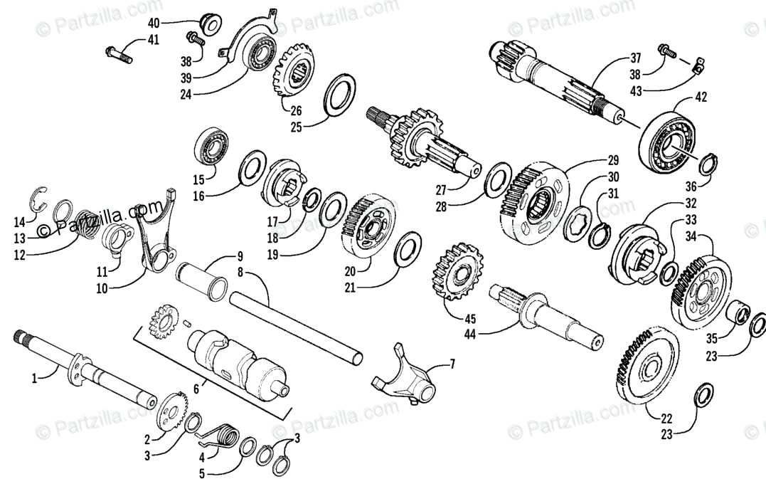 Arctic Cat ATV 2006 OEM Parts Diagram for Transmission