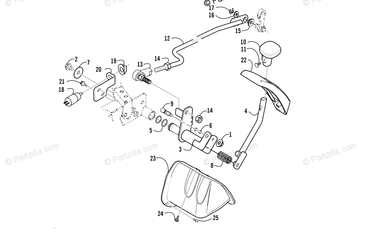 Arctic Cat ATV 2003 OEM Parts Diagram for Reverse Shift