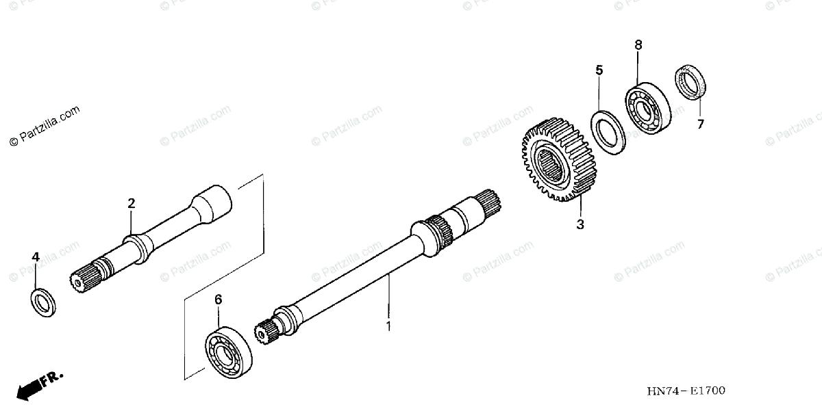 Honda ATV 2005 OEM Parts Diagram for Final Shaft
