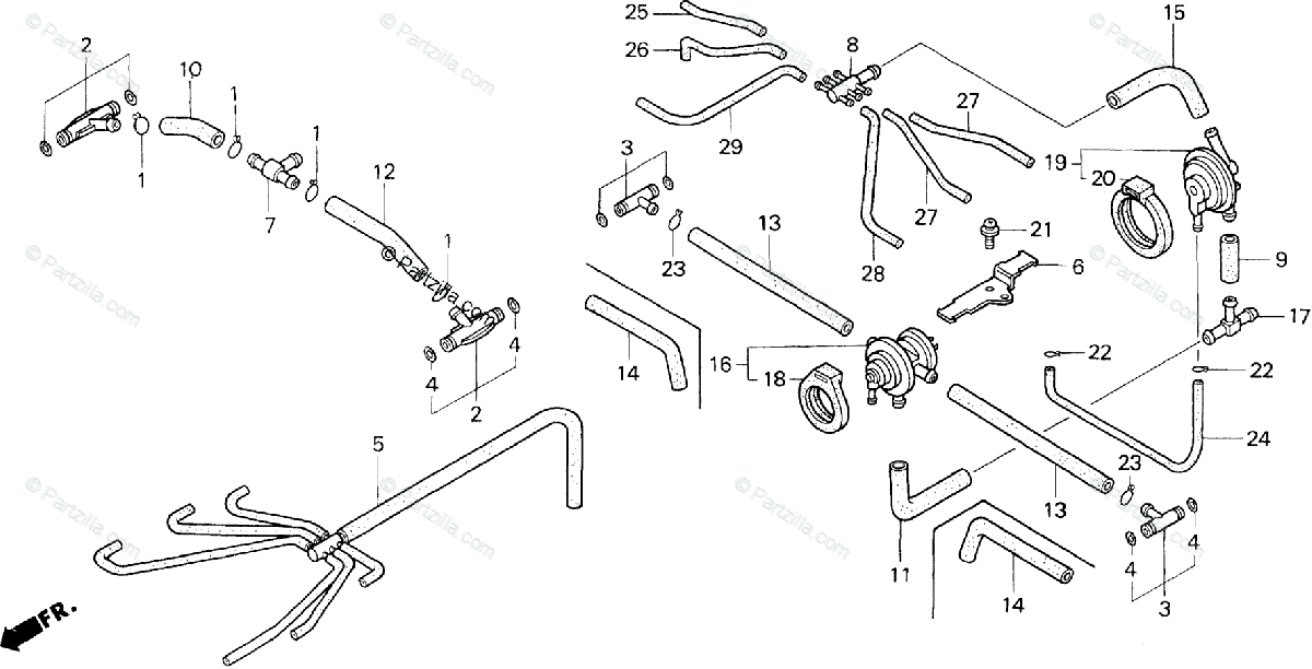 Honda Motorcycle 2001 OEM Parts Diagram for Carburetor