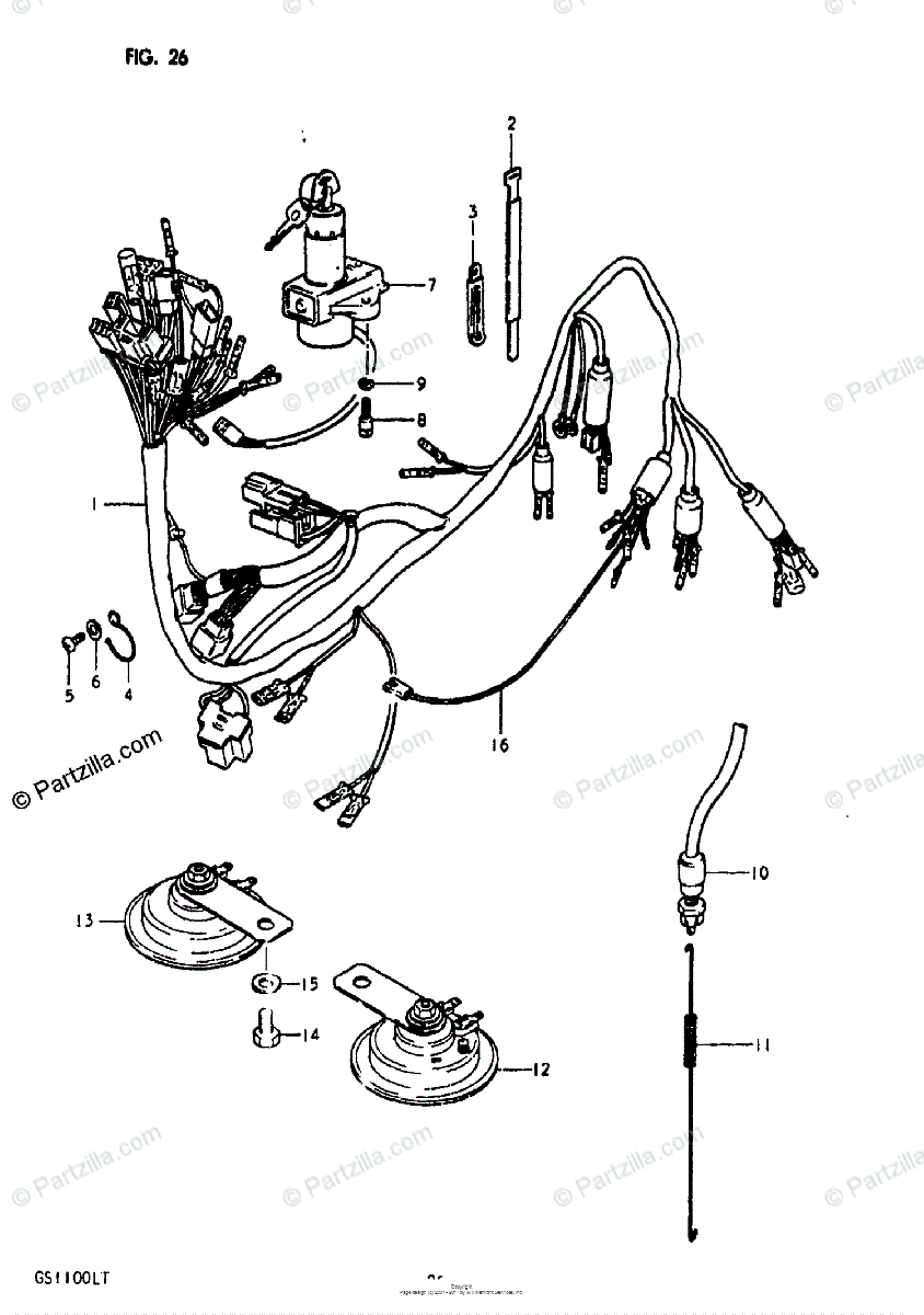 hight resolution of suzuki motorcycle 1980 oem parts diagram for wiring harness partzilla com