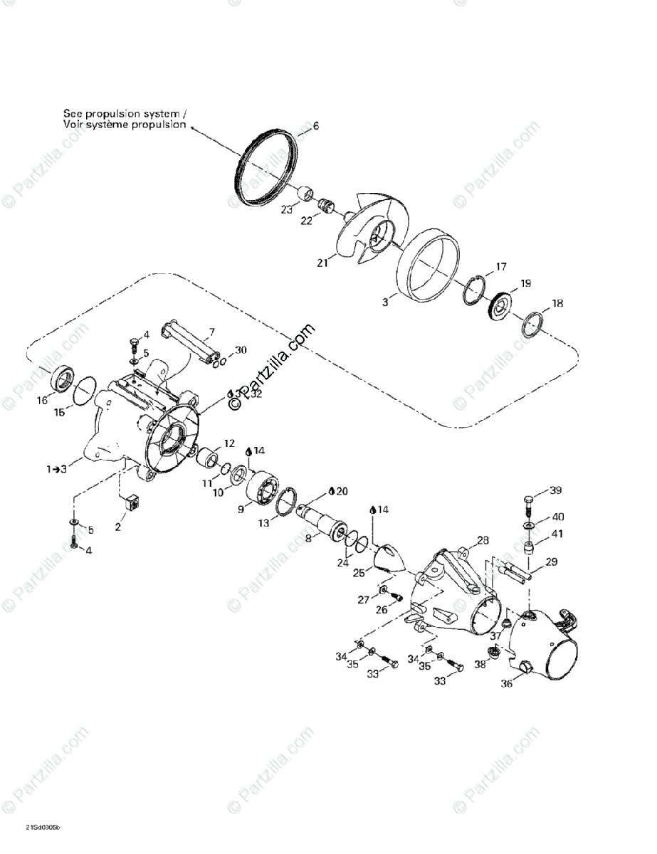 Sea-Doo 2003 GTX 4-TEC OEM Parts Diagram for Pump System