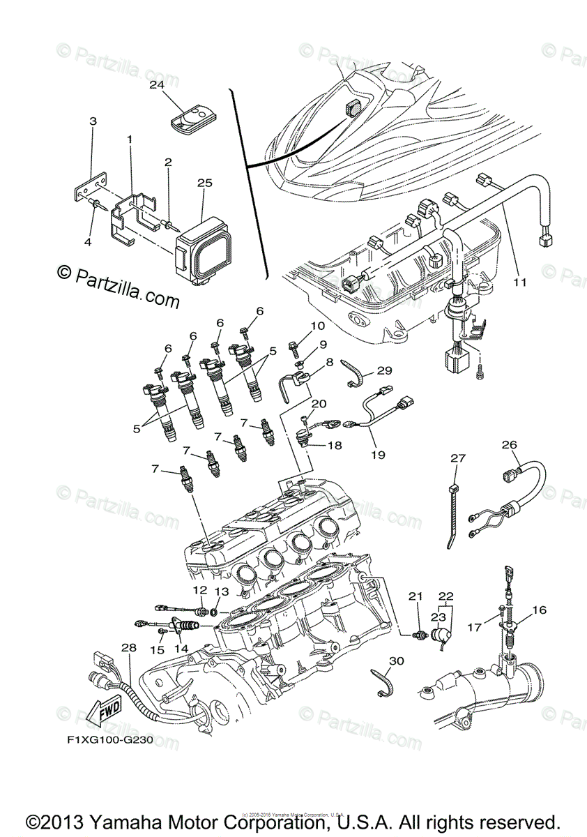 Yamaha Waverunner 2008 OEM Parts Diagram for ELECTRICAL 2