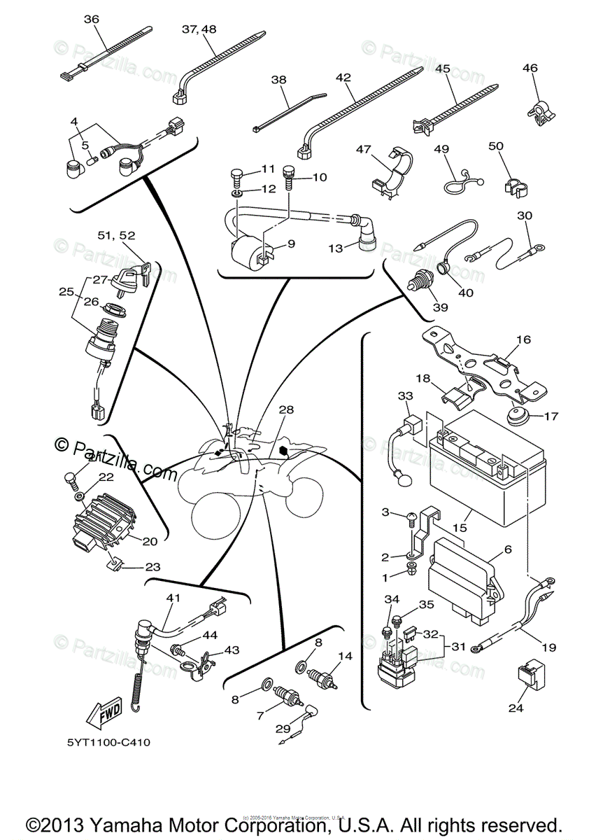 [XCJI_3474] 2006 Yamaha Raptor 350 Wiring Diagram Preview