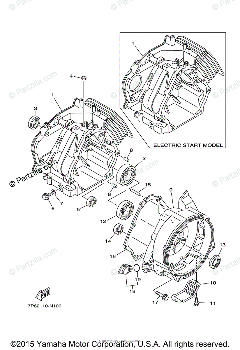 Yamaha Power Equipment EF7200D OEM Parts Diagram for