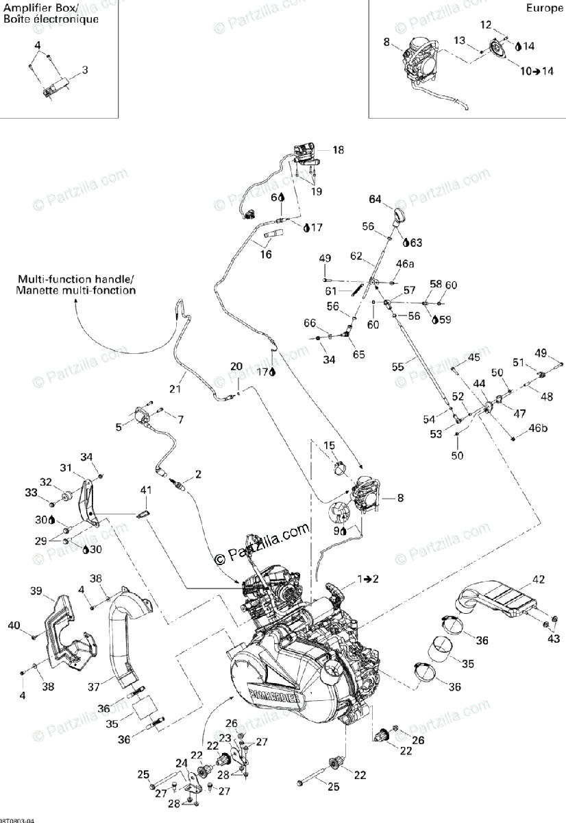 Can-Am ATV 2008 OEM Parts Diagram for Engine And Engine