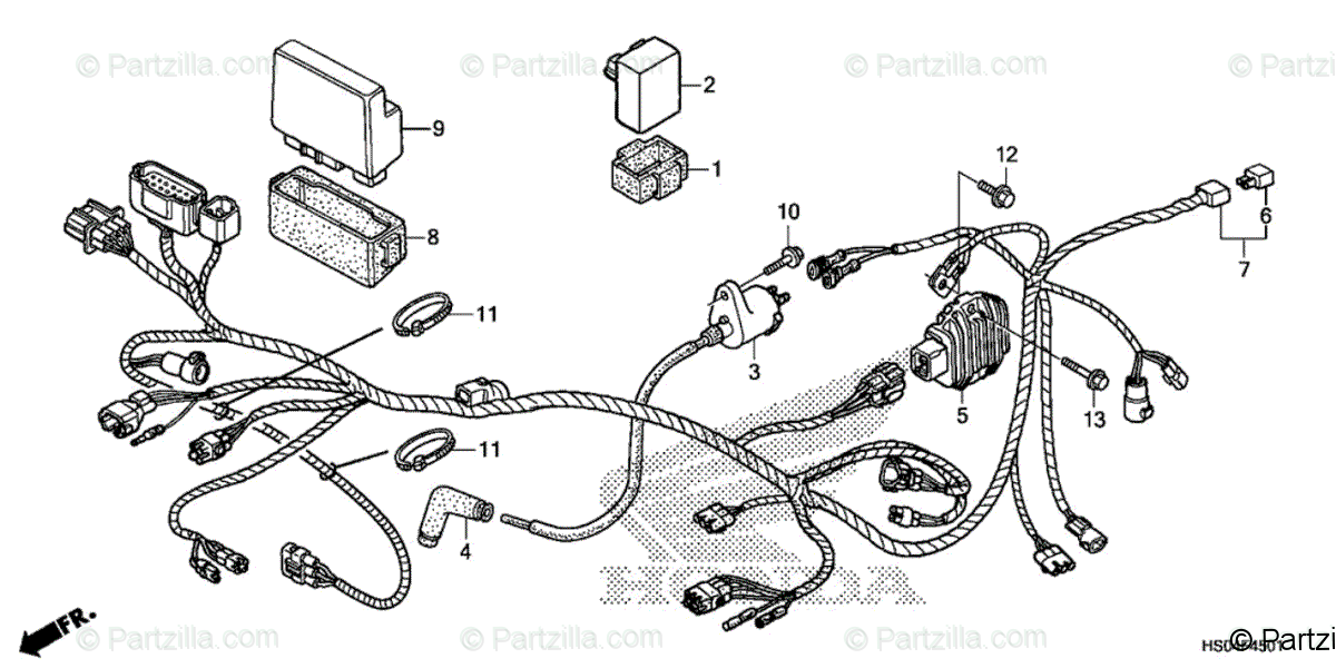 Honda ATV 2019 OEM Parts Diagram for Wire Harness (2