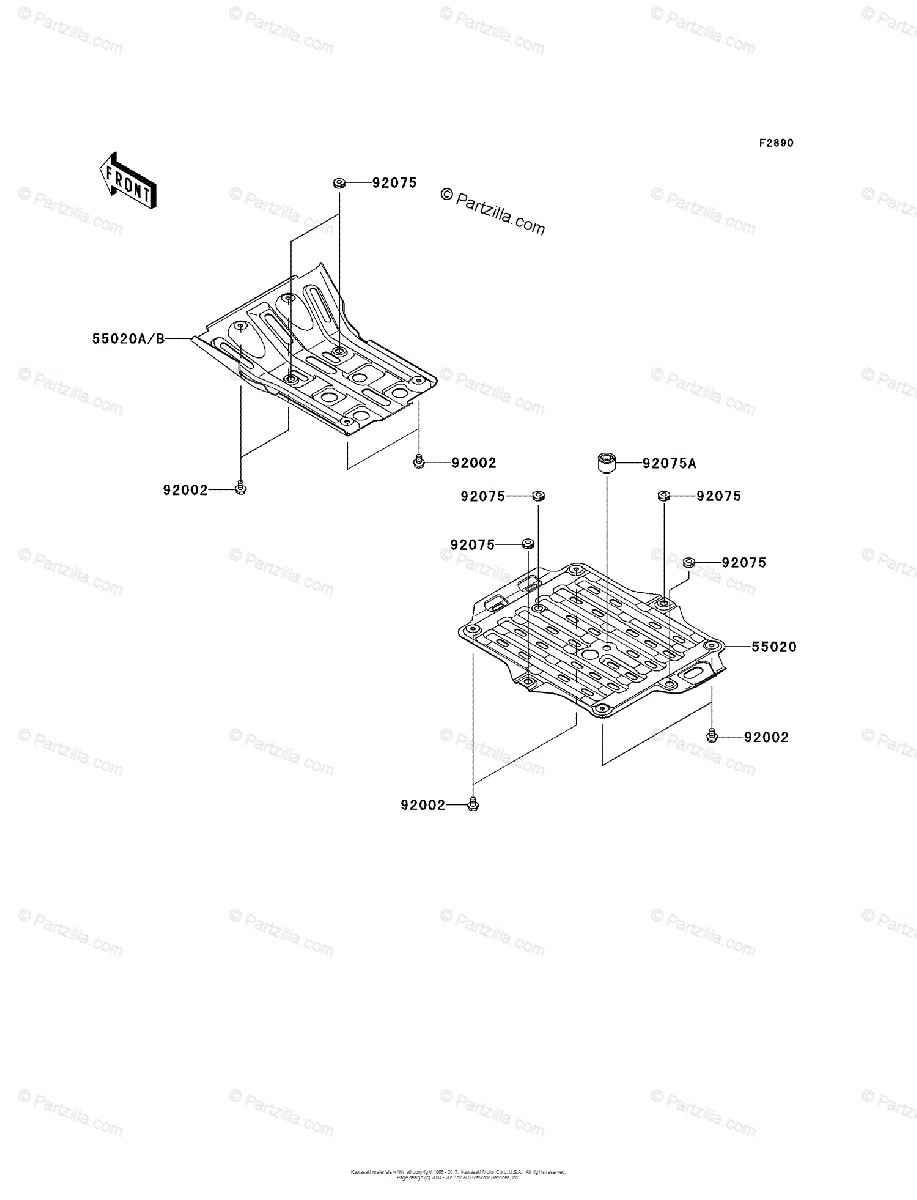 Kawasaki ATV 2004 OEM Parts Diagram for Optional Parts