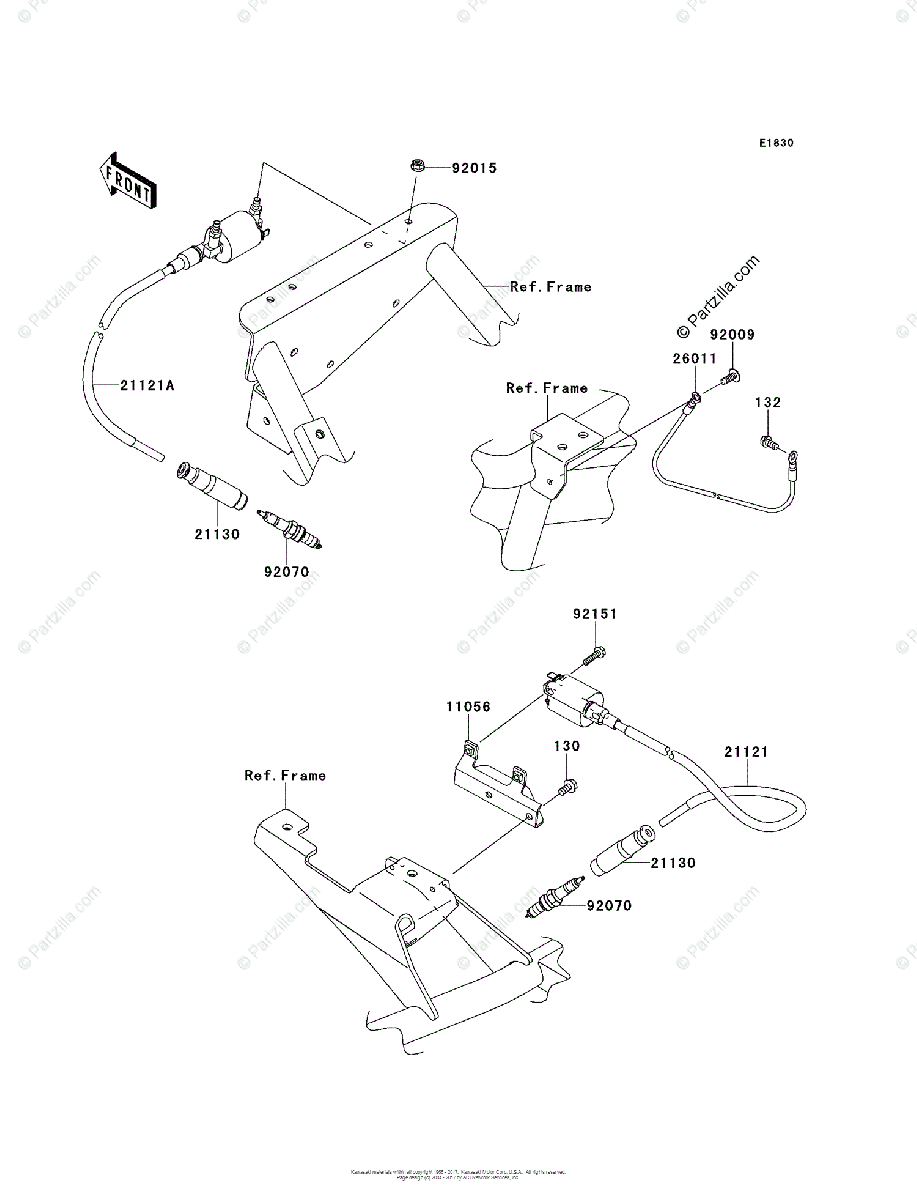 Kawasaki Side by Side 2013 OEM Parts Diagram for Ignition