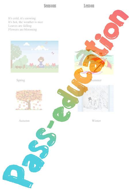 Tout Pour Le Calcul Mental Cm1 : calcul, mental, Saisons, Seasons, Anglais, Cycle
