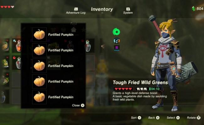 The 10 Best Recipes In Zelda Breath Of The Wild Games