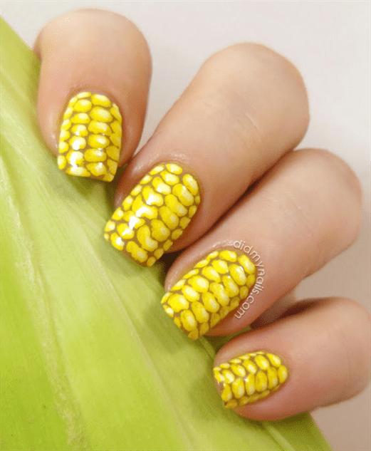 fashion meets food nail art