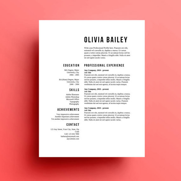 8 Creative and Appropriate Resume Templates for the NonGraphic Designer  Design  Paste
