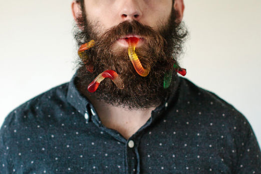 Beard Artist Makes Beard Art By Sticking Everyday Objects