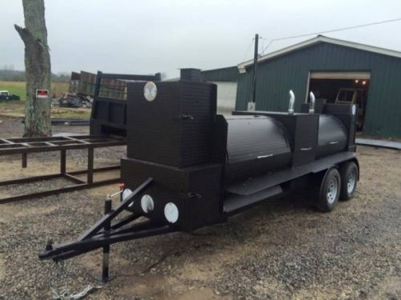 Great Wedding Gift BBQ Wedding Party Smoker Grill Trailer
