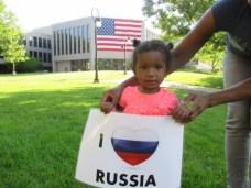 """Chicago area joins a worldwide action called """"I love Russia"""" - by Natalia Dagenhart"""