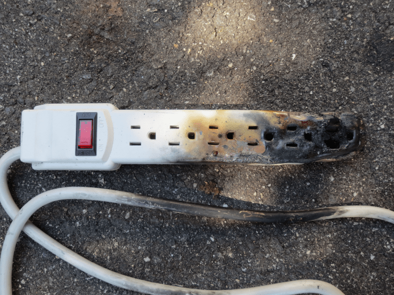 Never run an AC off a power strip or extension cord