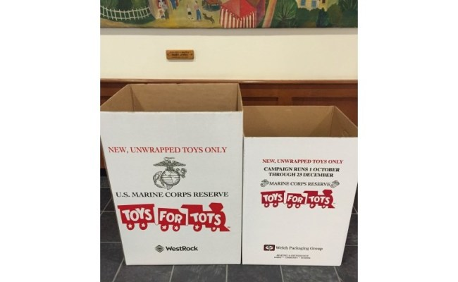 Emma Clark Library Collecting For Toys For Tots Three