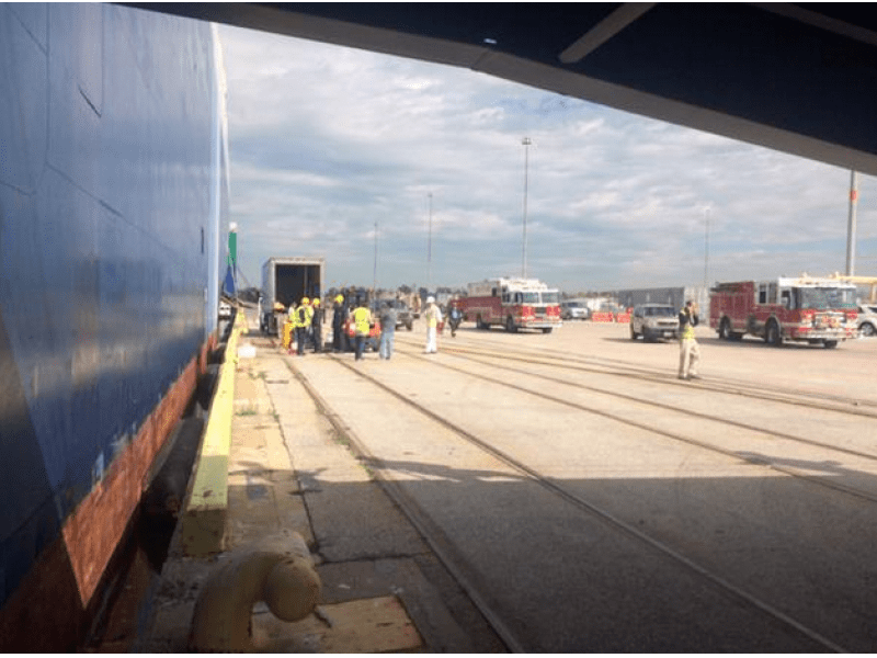 Hazmat Spill Reported at Port of Baltimore