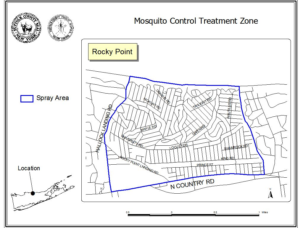 Ground Spraying for West Nile in Rocky Point Set For Wednesday