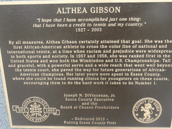 Althea Gibson Statue Unveiled  Newark NJ Patch