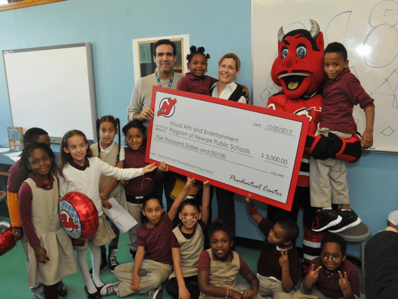 A Devilish Donation to the Newark Public Schools