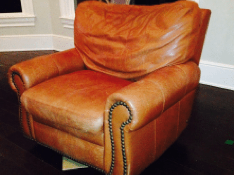 leather chair patch rocking accent chairs for sale on a generator brass sconces