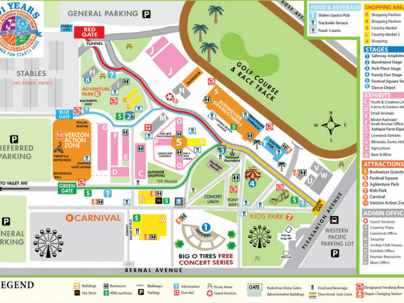 Alameda County Fair Map