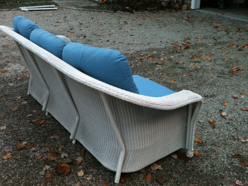 white wicker sofa for sale country living sofas 150 darien ct patch 0
