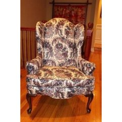 Queen Anne Wing Chair Childrens Pink Desk And Set Ethan Allen Chairs 2 Geneva Il Patch
