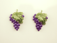 Handmade Hand Painted Grape Cluster Magnetic Clip On ...