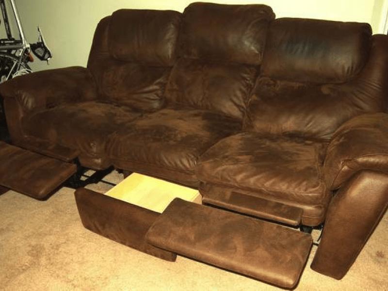 Reclining Microfiber Sofa Hotornotlive