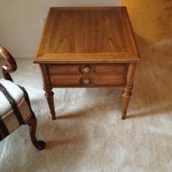 Drexel Sofa Table Dollhouse Sectional Estate Sale - Heritage Rectangular End Tables (2 ...