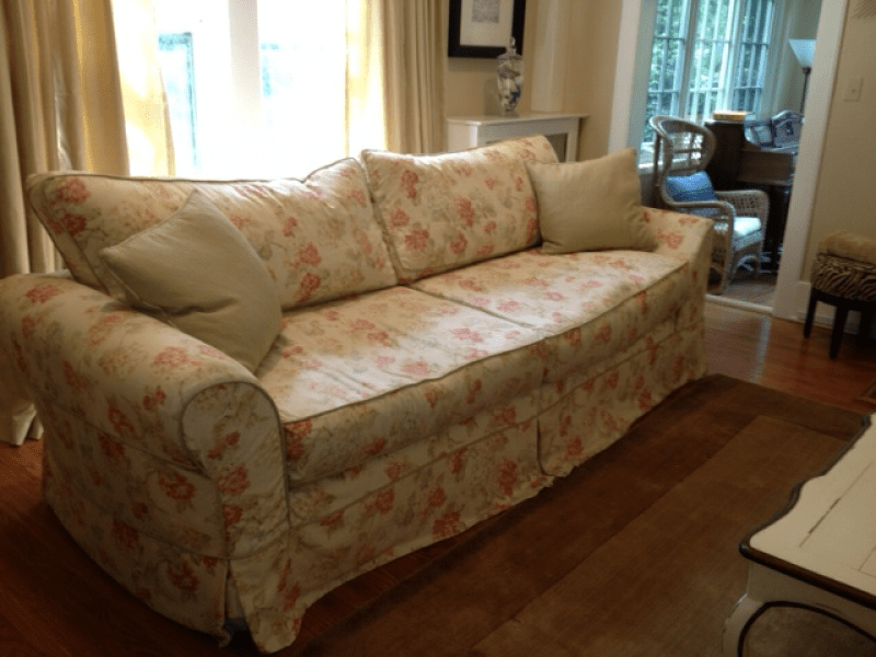 floral sectional sofa square arm leather uk french country couch by platypus - can be ...