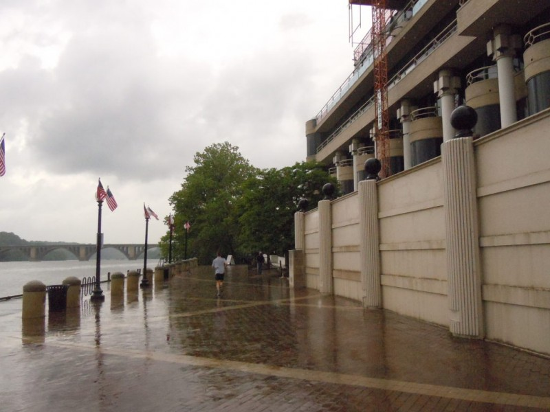 Flood Gates Up at Georgetown Waterfront in Anticipation of
