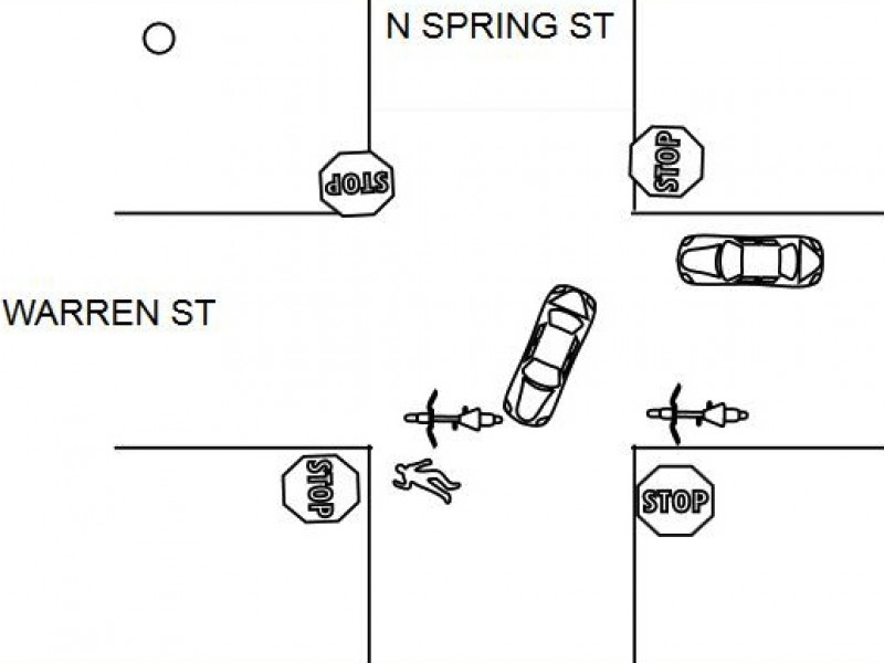 Car Hits Bicyclist on Warren Street, Flees the Scene
